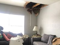 Burst pipes damaged one of The Family Place's transitional housing apartments where moms and kids live for up to one year.