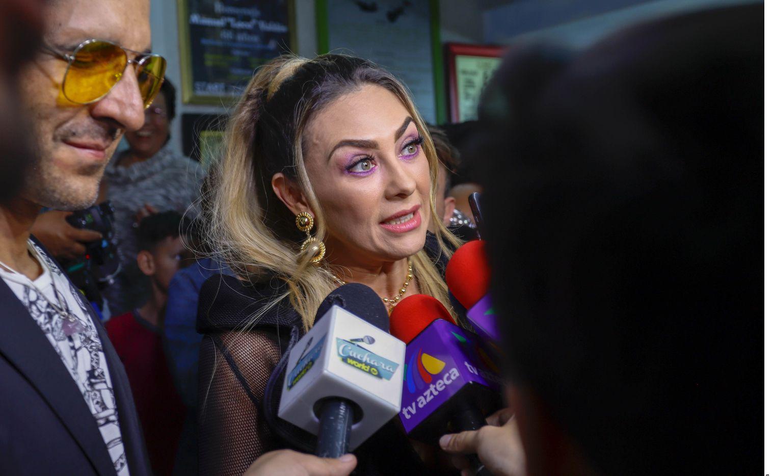 Aracely Arámbula (foto) desconoce si el padre de sus hijos, Luis Miguel, asistirá a la fiesta.