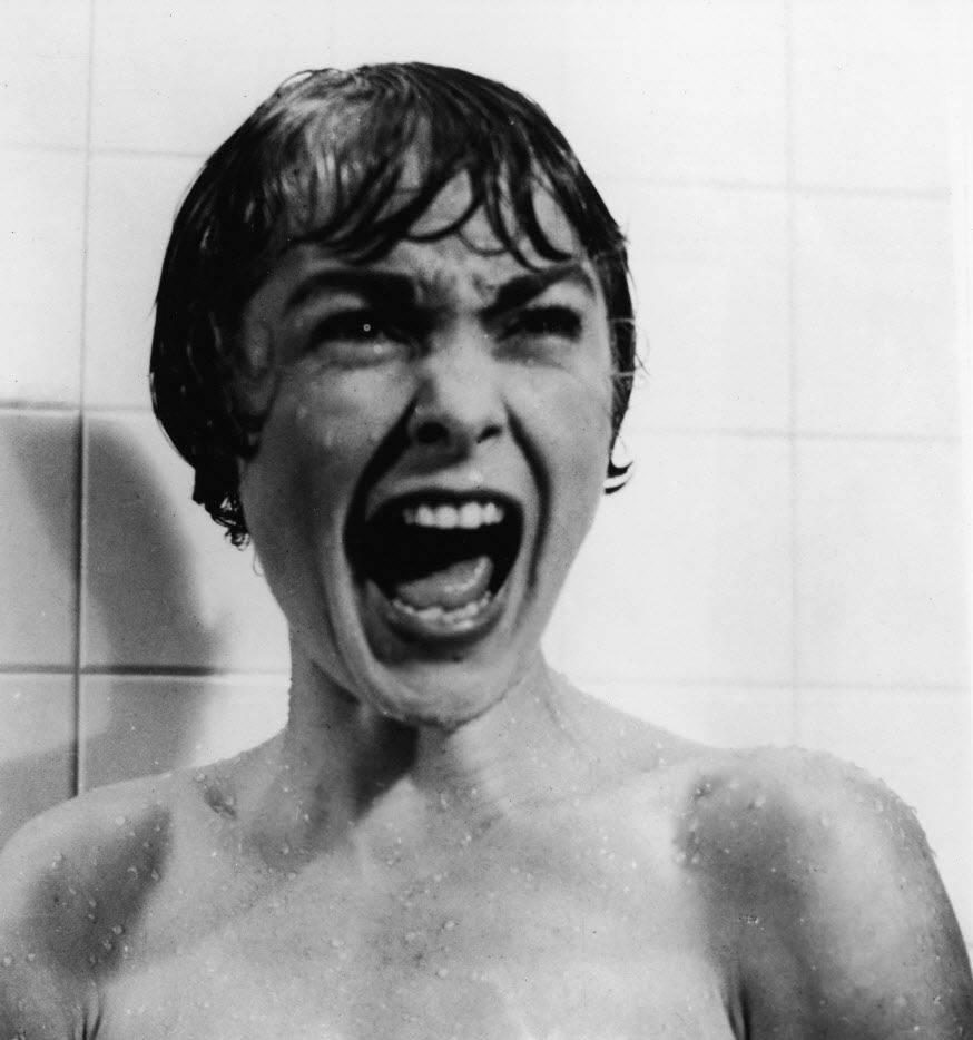 The scene that changed it all: Janet Leigh screams in the shower in the famous scene from the film Psycho, directed by Alfred Hitchcock, 1960.