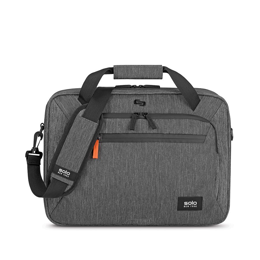 The Solo New York Storm Slim Brief is designed to carry up to a 15.6-inch laptop in a fully padded area of the bag's main compartment, which also has room for books or files.