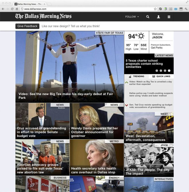 Dallasnews.com readers will have a choice of a free site or a premium site with the same content, added features and fewer ads. The price for the premium site starts at $11.96 a month.