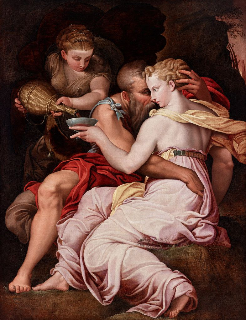 Lot and His Daughters, a 16th-century work by the School of Fontainebleau, is a fine example of Franco-Italian painting at the Dallas Museum of Art.