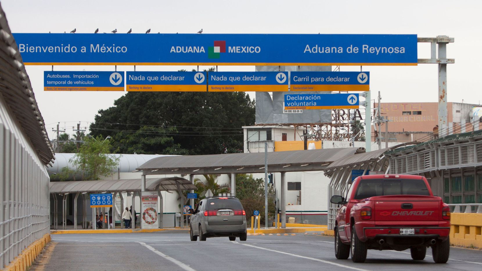 El puente internacional entre Reynosa, México y McAllen, Texas.