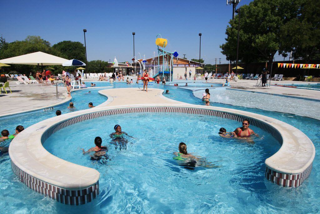 File photo of the Heights Family Aquatic Center in Richardson.