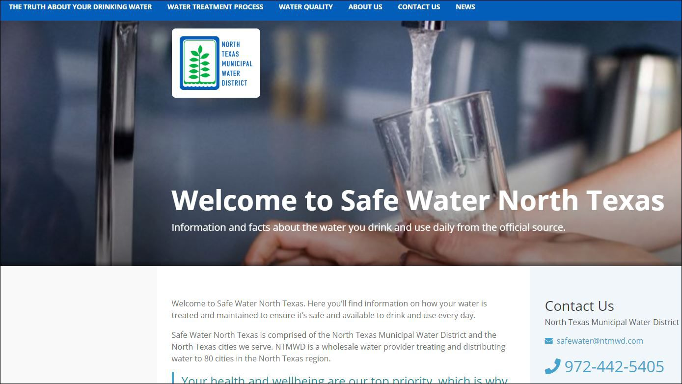 The water district created this informational website with a URL similar to the activists group's site. The water district could have steered web searchers to its established district website but didn't.