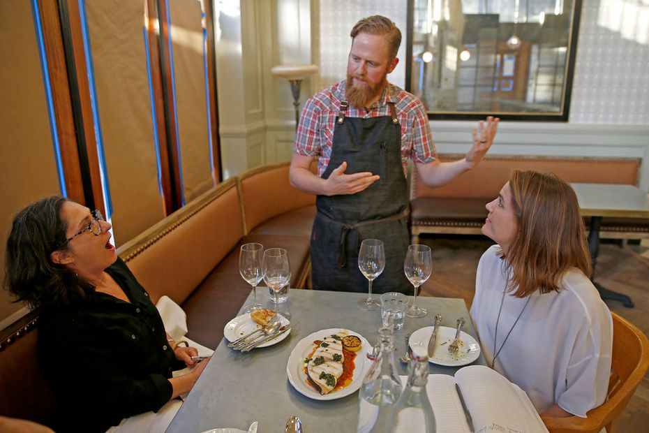 With the windows at Billy Can Can still covered weeks before the opening, Leslie Brenner (left), Matt Ford and Taryn Anderson taste six dishes one Saturday evening.