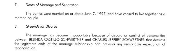 On Jan. 30, Sen. Charles Schwertner's wife filed for divorce in Williamson County.