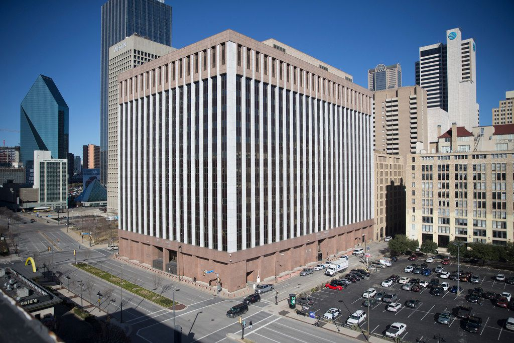 The Earle Cabell Federal Building, a U.S. federal courthouse in Dallas, where a hearing was held concerning a cyberstalking case involving an Illinois man.