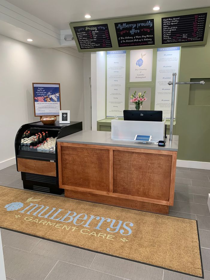 Mulberrys Garment Care opened its first Dallas location at 4441 Lovers Lane in Dallas on April 26, 2019.