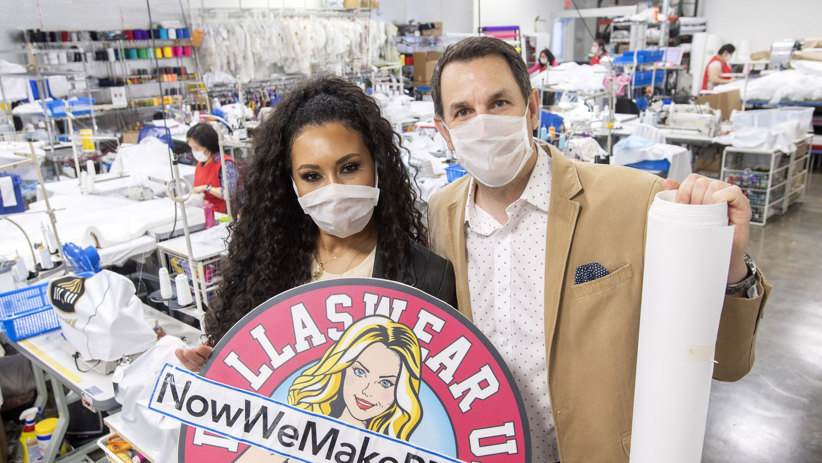 Terra Saunders, former Dallas Cowboys cheerleader and creative director of Dallaswear, and her husband, Paul, the company's chief executive, quickly pivoted from making uniforms for waitresses and professional cheerleaders to making protective equipment for health care workers and others on the front lines of the pandemic.