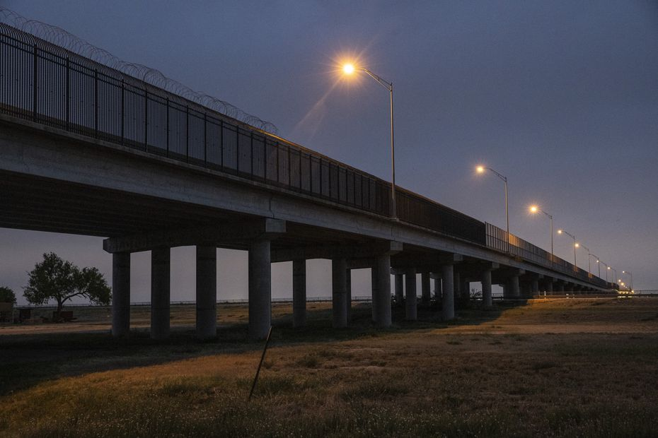 U.S. Customs and Border Patrol officials have established a processing center for migrants beneath the Anzalduas International Bridge in Mission, Texas. CBP officials aren't allowing press into the area, but several migrant women said they slept overnight on the ground as they were processed there.