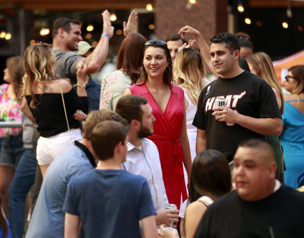 In celebration of Cinco De Mayo, Mattito's Tex-Mexrestaurant in the Uptown area of Dallas hosted an outdoor party and queso eating competition, Thursday, May 5, 2016.  (Tom Fox/The Dallas Morning News)
