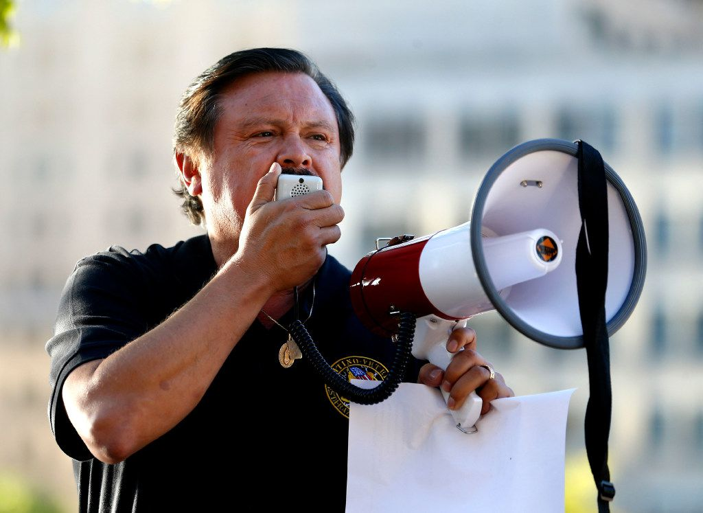 Dallas attorney Domingo Garcia speaks during a support rally for DACA recipients at City Hall Plaza in Dallas on Wednesday, Sept. 6, 2017.