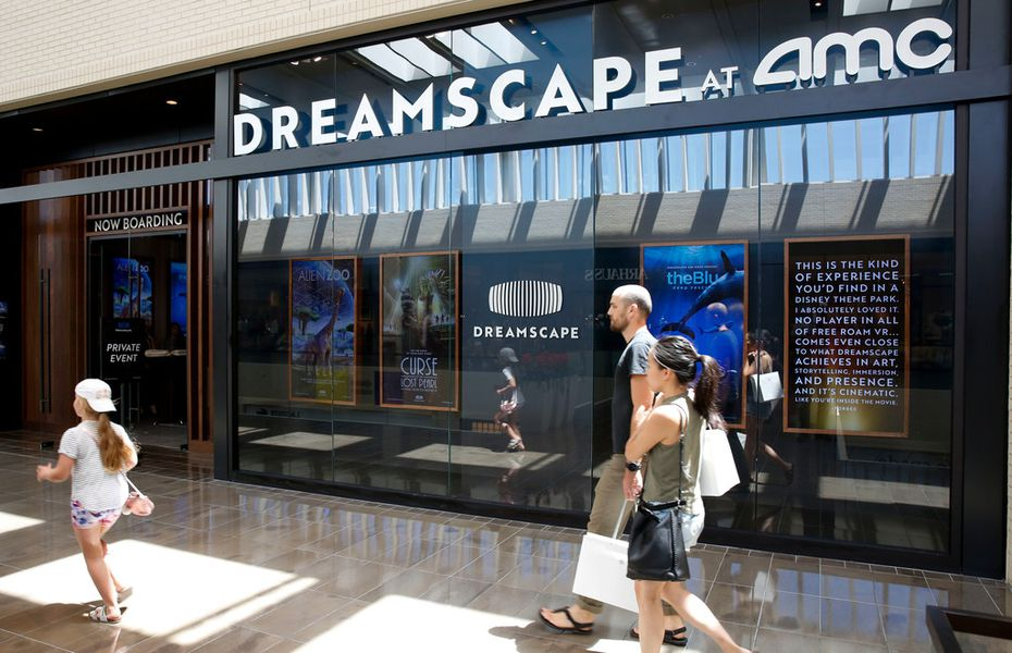 Dreamscape's storefront is at NorthPark Center in Dallas, on the second floor between Neiman Marcus and Nordstrom.