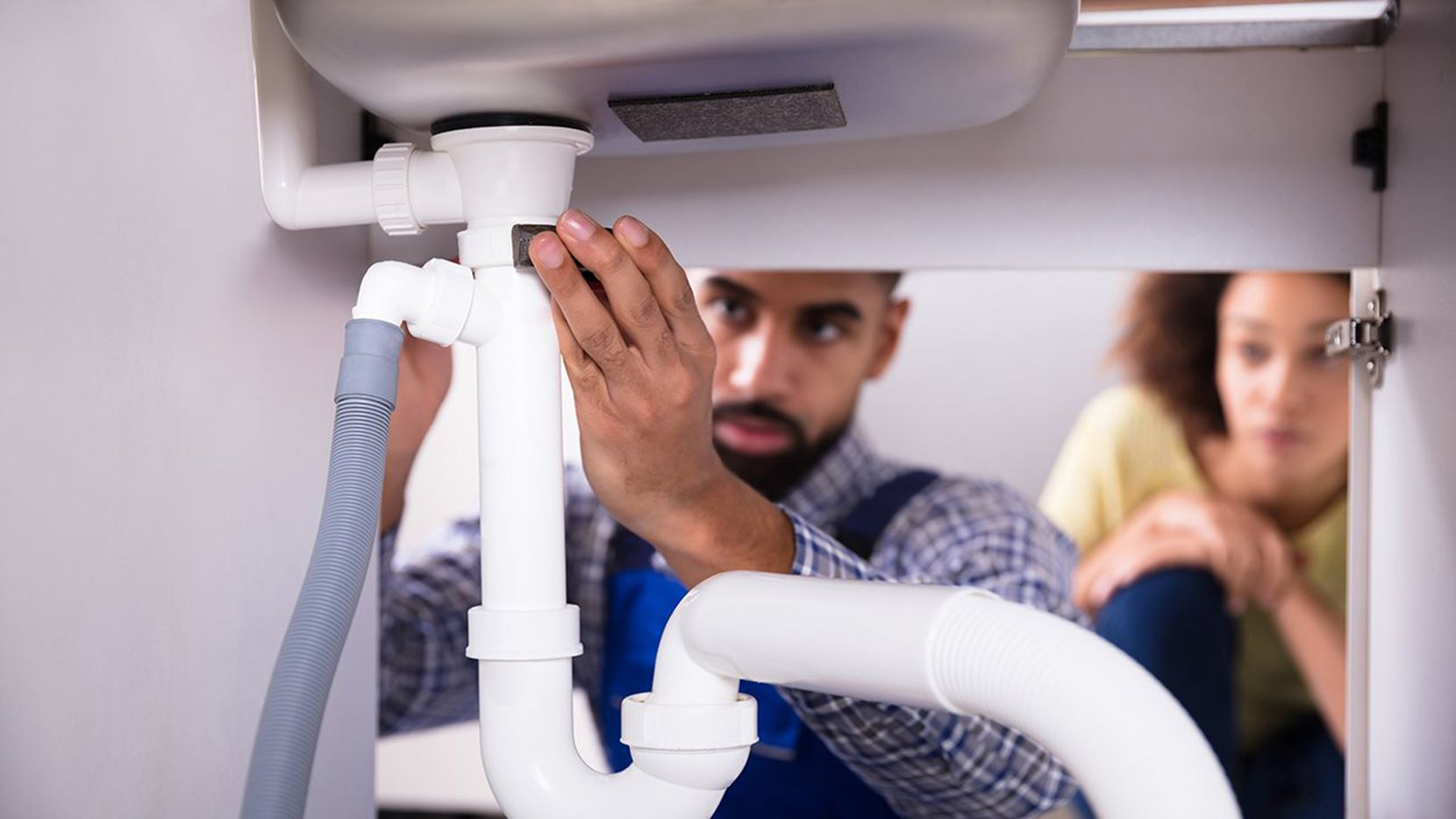 Inspect plumbing connections, appliance hoses and pipes for leaks.