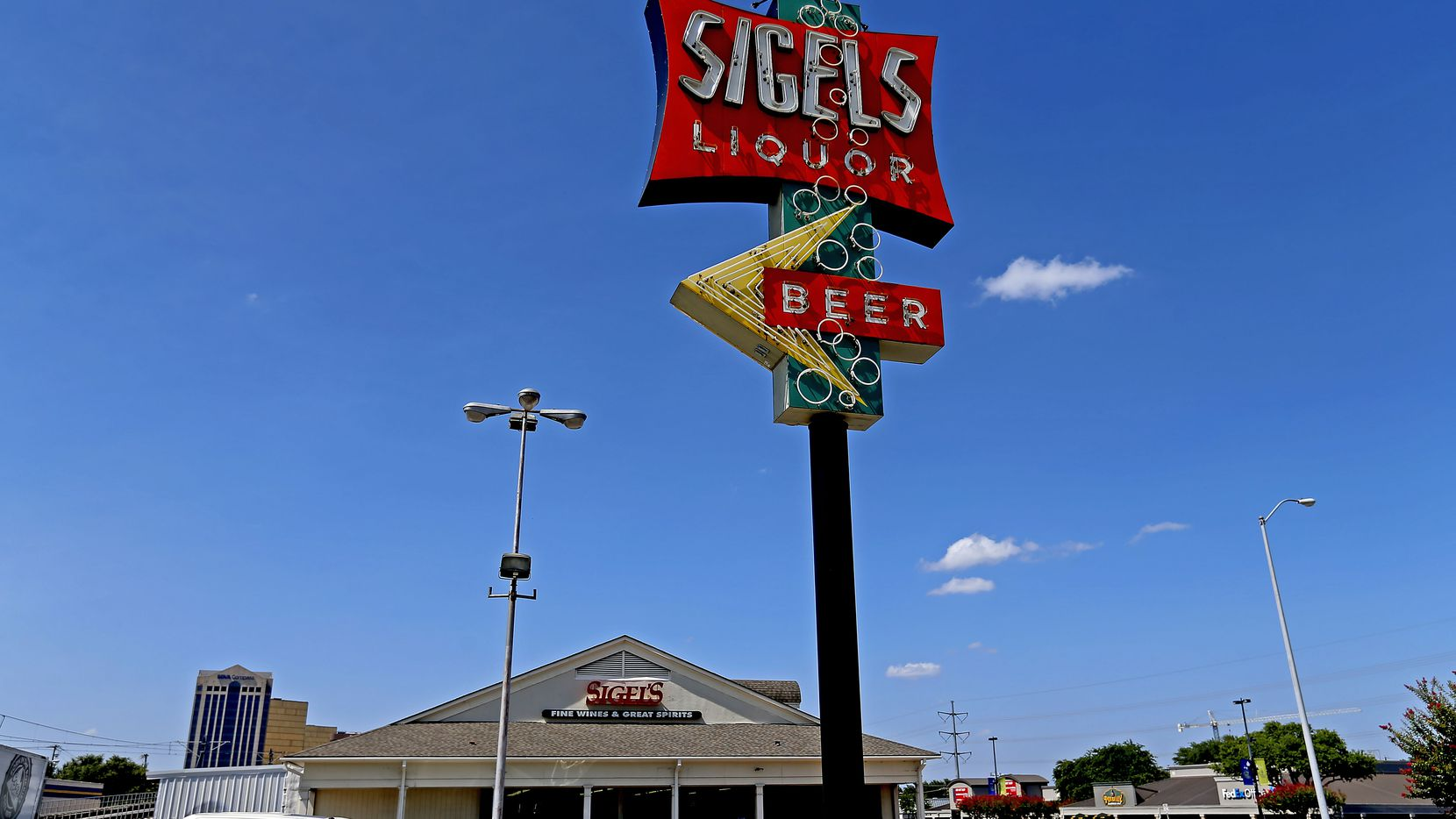 Exterior shot of the Sigel's Fine Wines & Great Spirits store on Greenville Avenue in Dallas, Friday, June 29, 2018. (Jae S. Lee/The Dallas Morning News)