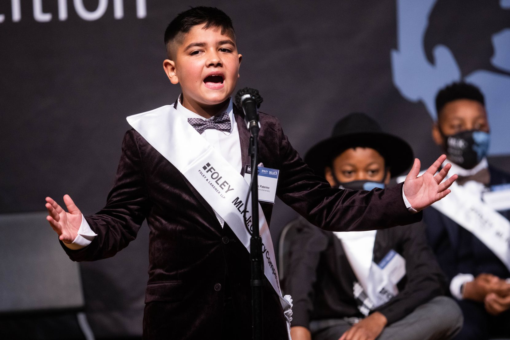 Dominic Patermo, 11, talked about how Martin Luther King Jr.'s teachings would help today, saying racism should not be fought with violence, but with love and kindness at the 29th annual MLK Jr. Oratory Competition.