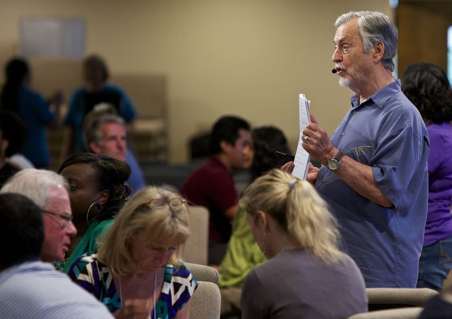 """""""Negativity is anything someone perceives as a putdown,"""" says Harville Hendrix, pictured leading a relationship workshop in Dallas in 2014."""