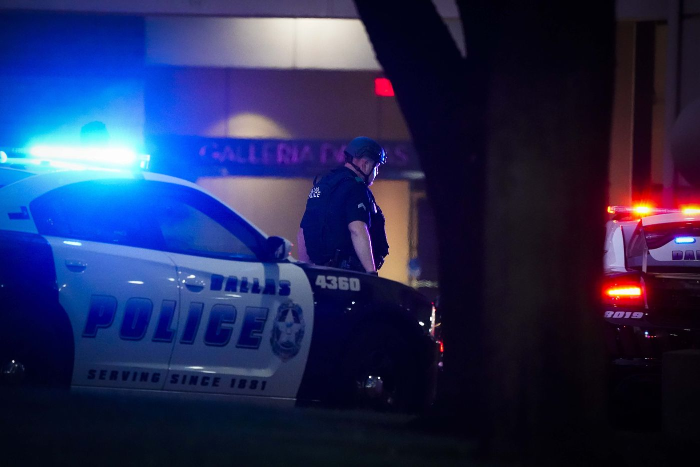 Dallas police work outside the Nordstrom store at the Galleria Dallas on Tuesday, June 16, 2020, in Dallas.