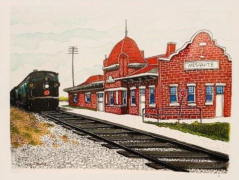 Mesquite Train Depot by Tony Morris