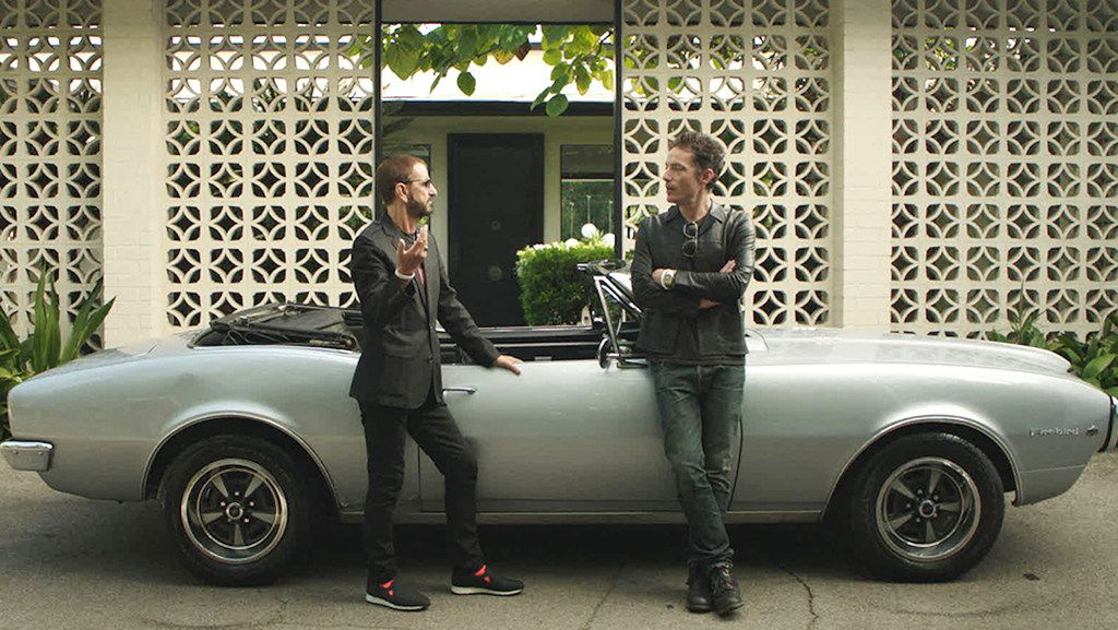 Ringo Starr and Jakob Dylan in Echo In the Canyon.  This documentary examines the mid-1960s music scene of Laurel Canyon, which produced iconic groups including the Byrds, the Beach Boys and the Mamas and the Papas.