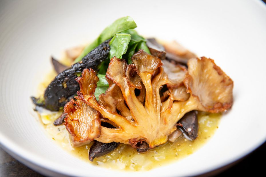 Mushrooms and salsa verde are one of the expected menu items at Tulum.
