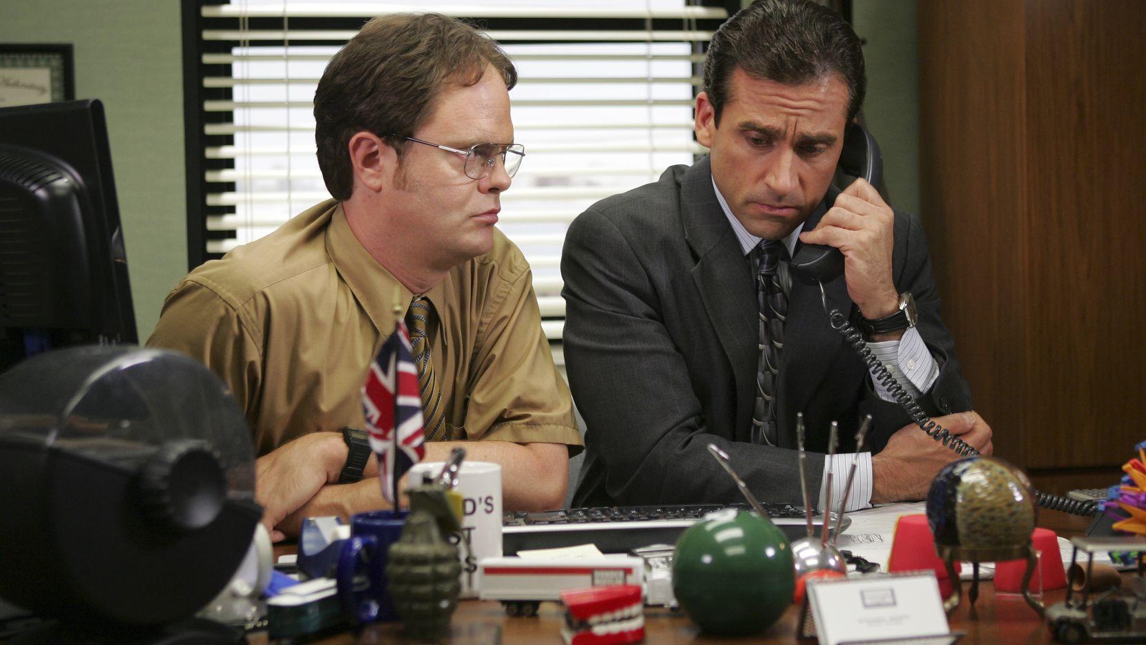 "Rainn Wilson (left) and Steve Carell starred in the hit NBC TV show ""The Office."""