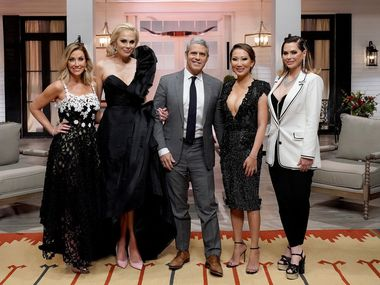 Dr. Tiffany Moon, second from right, is an anesthesiologist and the newest cast member of 'Real Housewives of Dallas.' TV network Bravo defended her in a recent statement.