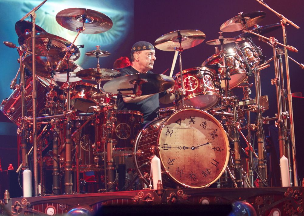 Neil Peart's elaborate drum kit revolved on a 360-degree turntable as Rush performed at American Airlines Center on Nov. 28, 2012. Peart, widely regarded as one of the greatest drummers in rock history, died Jan. 7 of brain cancer at age 67.