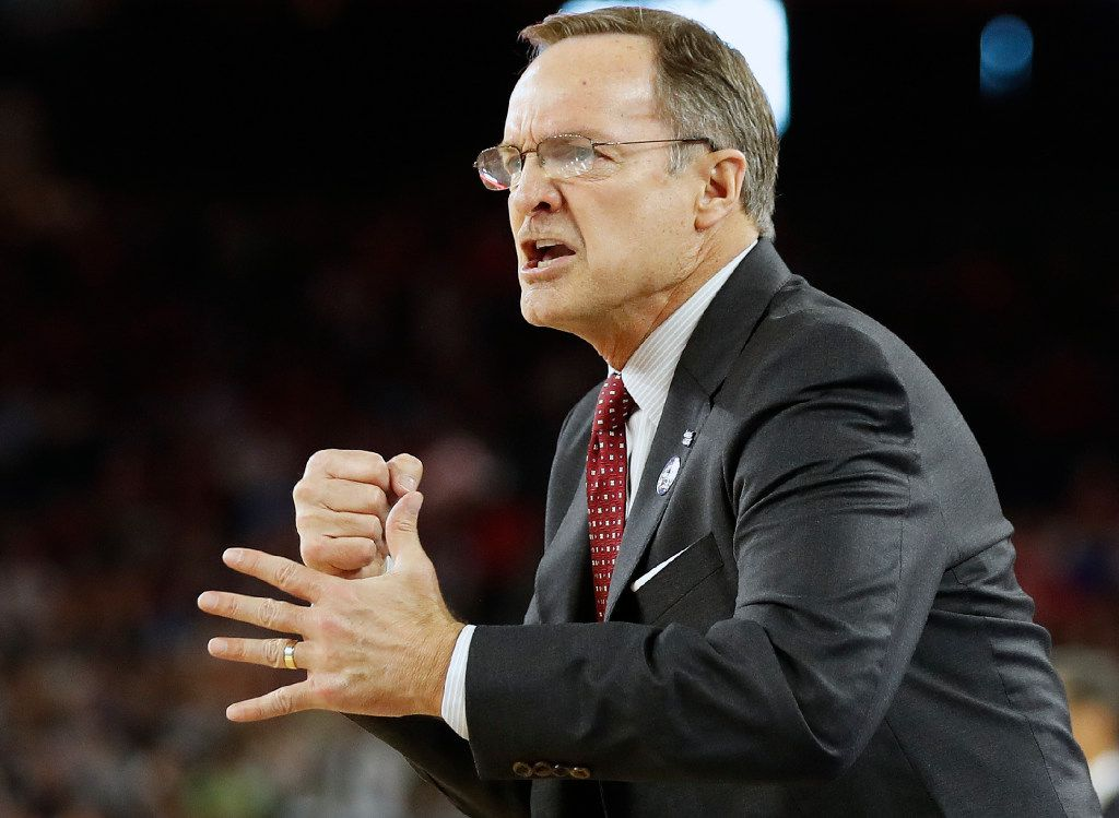 FILE - In this April 2, 2016, file photo, Oklahoma head coach Lon Kruger watches play against Villanova during the first half of the NCAA Final Four tournament college basketball semifinal game, in Houston. Last season, Oklahoma reached the Final Four. This season, the coaches have picked the Sooners to finish sixth in the Big 12 (AP Photo/Eric Gay, File)