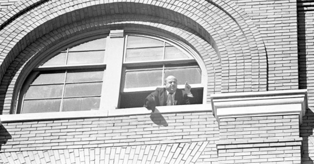 Sgt. Gerald Hill at the Texas School Book Depository on Nov. 22, 1963.