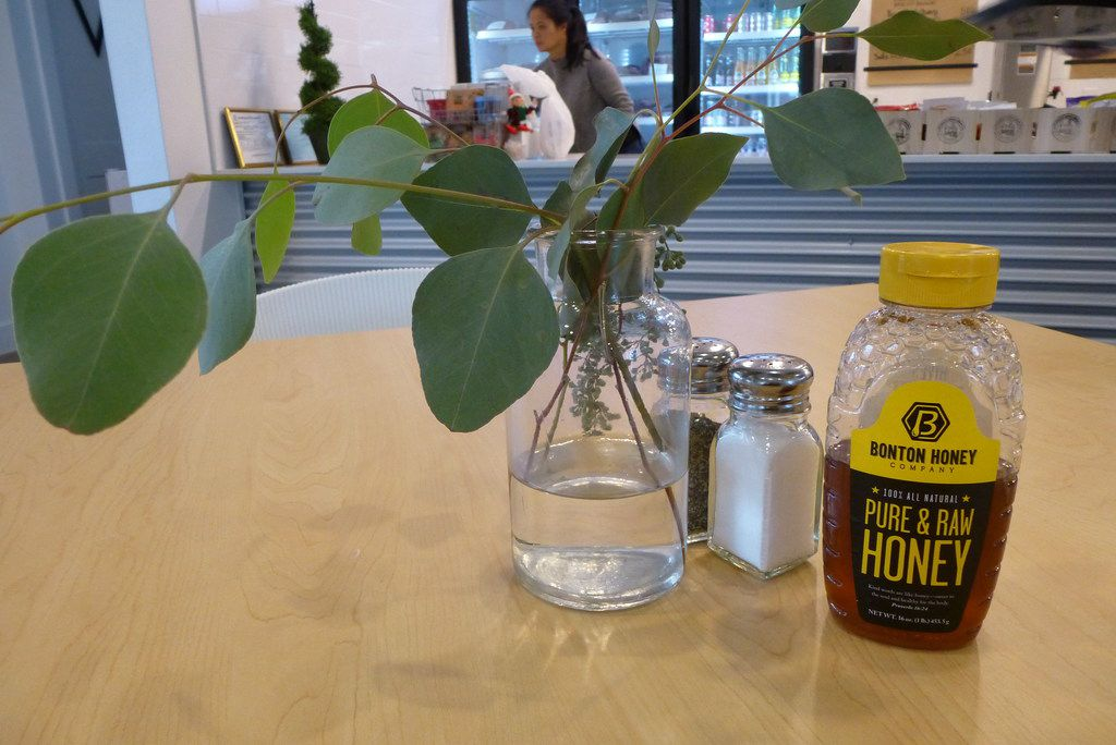 Bonton Farms' own honey is on every table at its cafe, which  opened in November.