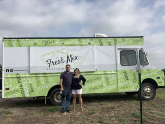 Mark and Jessica Thibodeaux launched their Fresh Mex food truck last month.