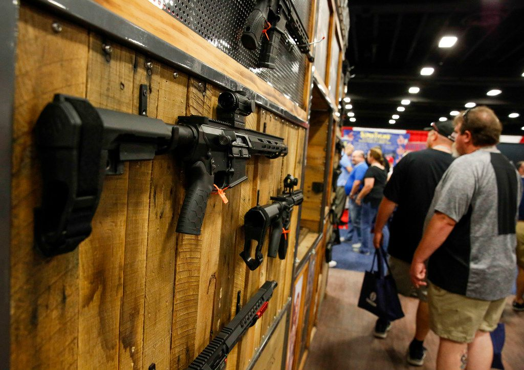 A gun made by Diamondback Firearms was on display at the Personal Protection Expo held by the NRA at the Fort Worth Convention Center on Saturday.