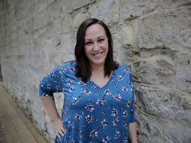 "MJ Hegar, shown in a July 2019 file photo in Round Rock, where she lives, is denying insinuations by Royce West, her opponent in the Democratic runoff for U.S. Senate, that she's not a real Democrat and may even have had tea party sympathies. On Tuesday, Hegar hit back at West, suggesting he's sexist and cozy with ""corruption."""