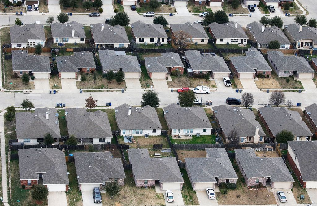 "Homes in a neighborhood in South Dallas. According to the ""Everybody File a Protest"" plan offered by DallasNews.com Watchdog Dave Lieber, if each of these homes file a property tax protest before the May 31 deadline, their taxes will likely get lowered."
