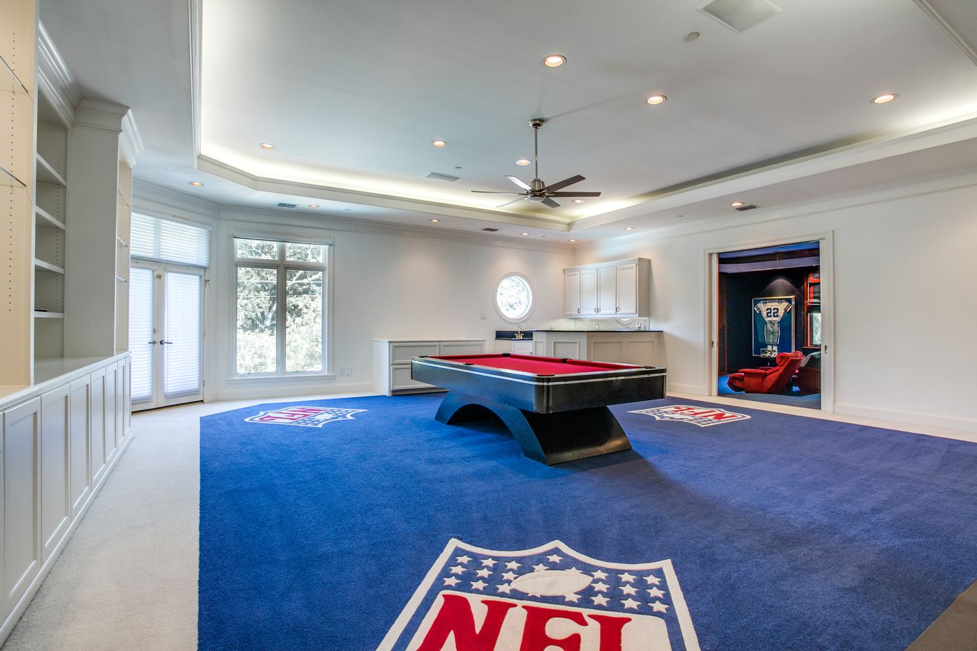 Take a look at the home at 15001 Winnwood Road in Dallas. The home was custom built for former Dallas Cowboys running back Emmitt Smith in 1995.