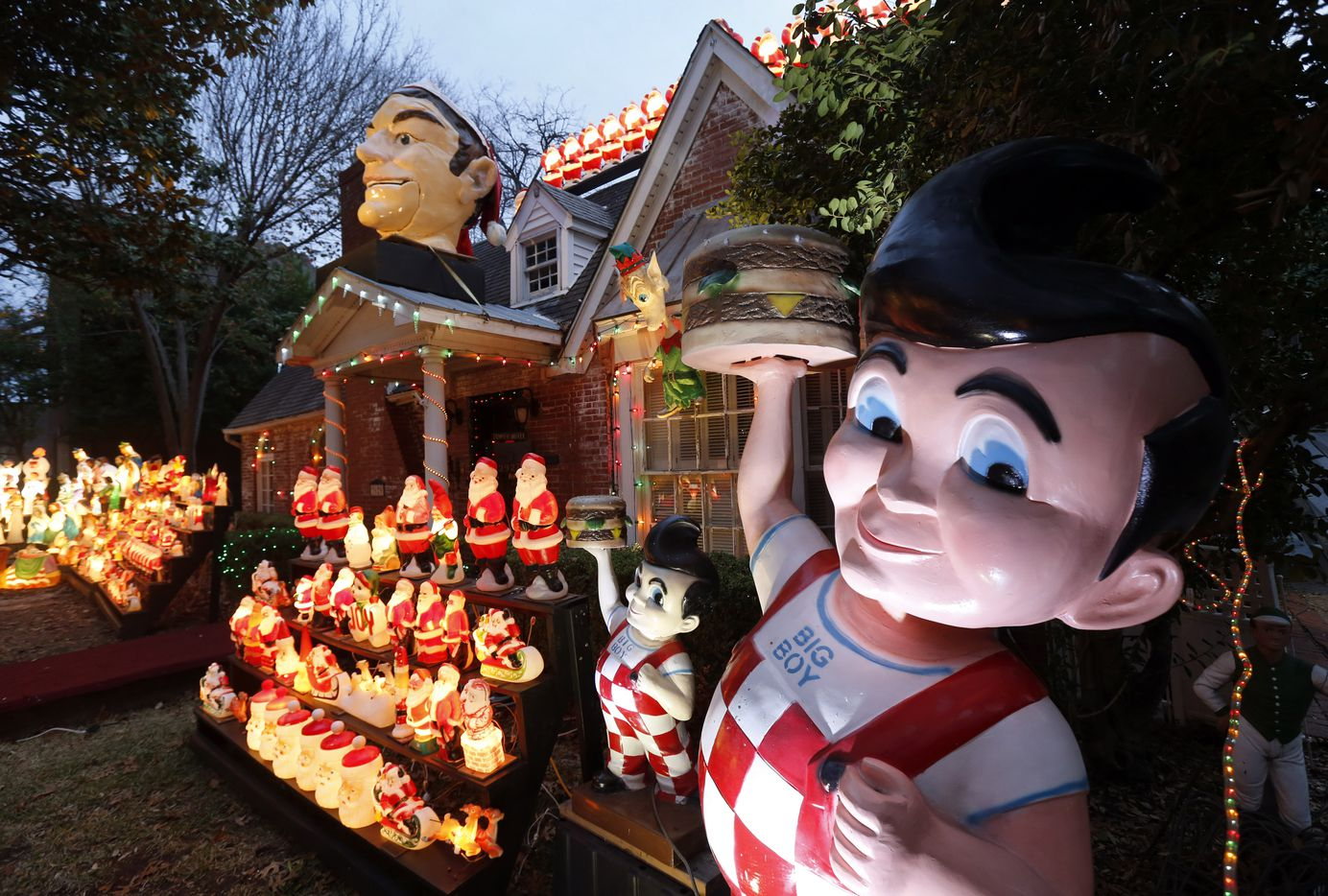 Wayne Smith even has an 8-foot Kip's Big Boy in his decorated University Park yard and house.
