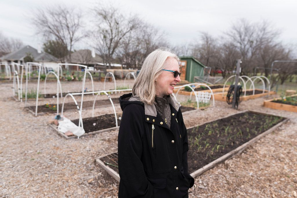 Terri Barrett talks about The Giving Garden of Carrollton on Saturday, March 3, 2017.  The organization that operates the garden donates the food to needy families.   (Rex C. Curry/Special Contributor)