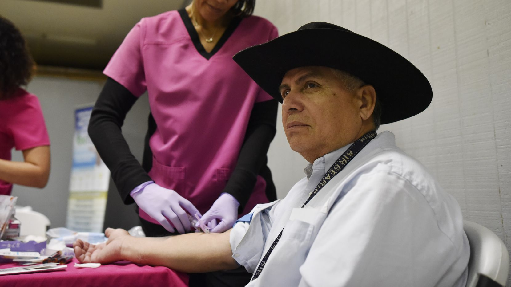 Salvador Cervantes, 63, has his blood collected during a health and safety fair last month in Dallas. Primary care accounts for less than 6% of all health spending in the U.S., less than half the average share of other developed countries.
