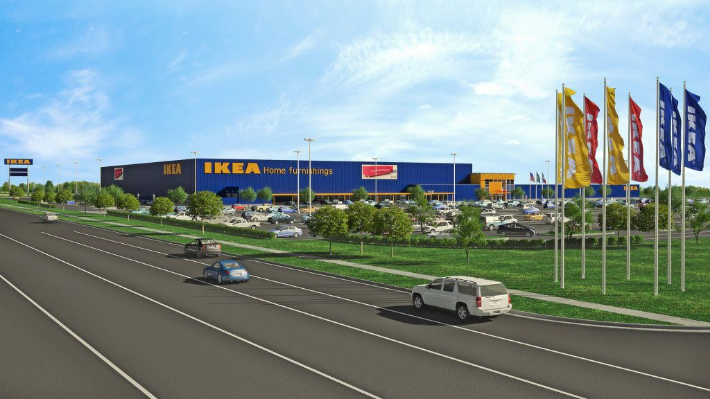 Artist's rendering of the proposed Ikea Grand Prairie.