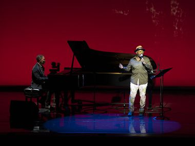 John Holiday performs at the Dallas Opera in the group's first in-person concert since the beginning of the pandemic.