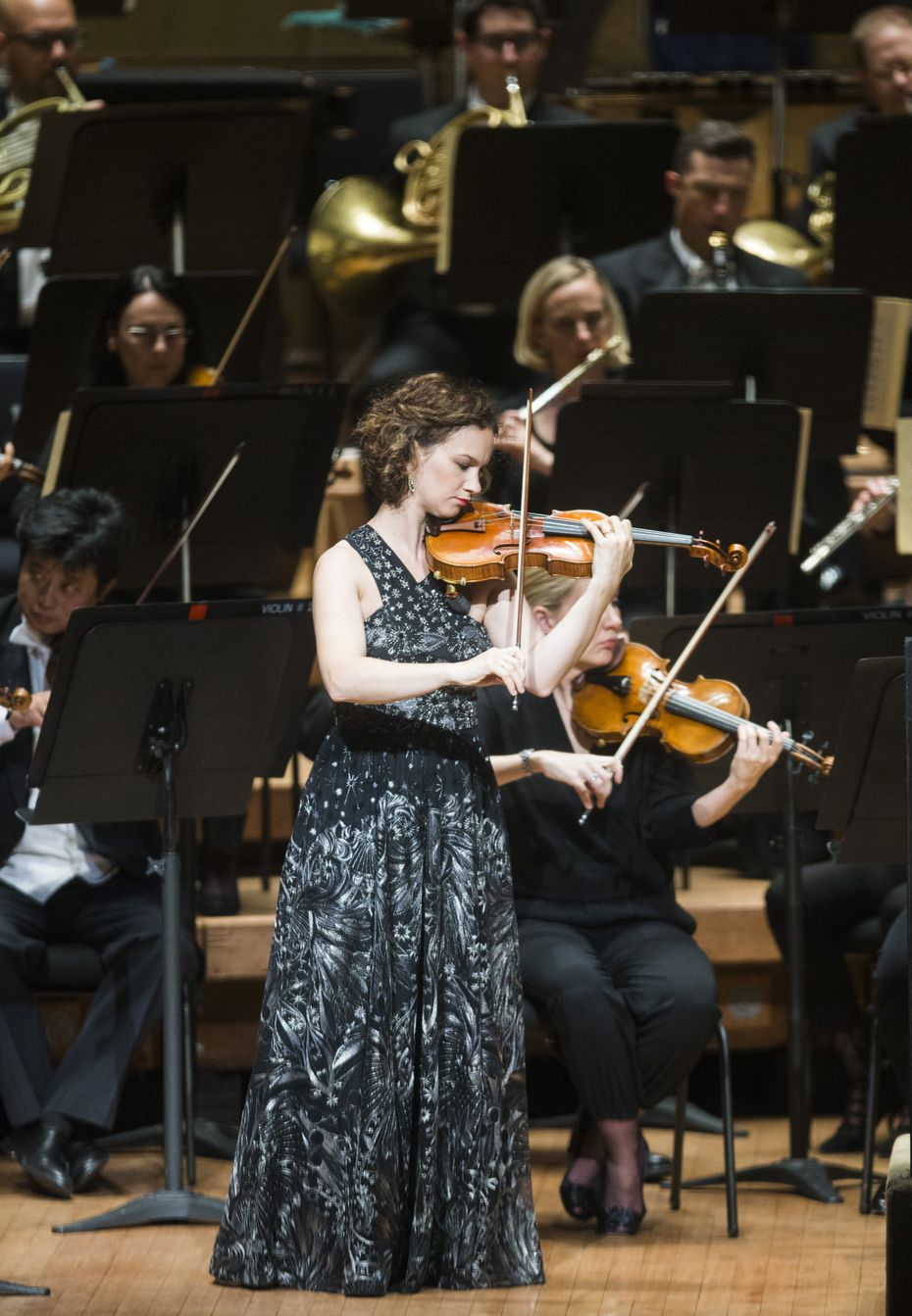 Violinist Hilary Hahn, who performed Dvorak's Concerto in A Minor for Violin and Orchestra with the Dallas Symphony Orchestra, on Sept. 21, 2017, in Dallas, will receive the Award of Excellence at the second Women in Classical Music Symposium.