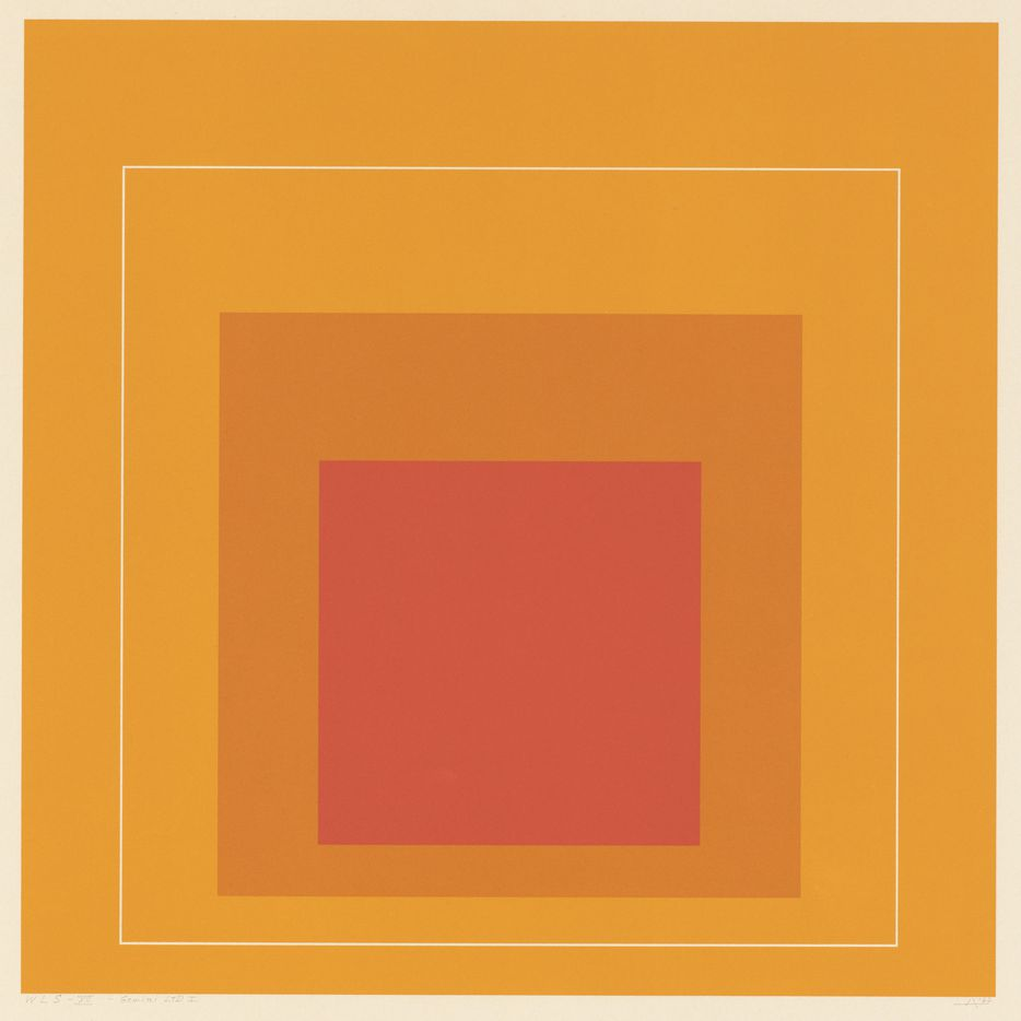 Josef Albers, White Line Square XII, 1966, lithograph, National Gallery of Art, Washington, Gift of Gemini G.E.L. and the Artist, © 2017 Josef and Anni Albers Foundation/Artists Rights Society (ARS), NY/VG Bild Kunst, Bonn