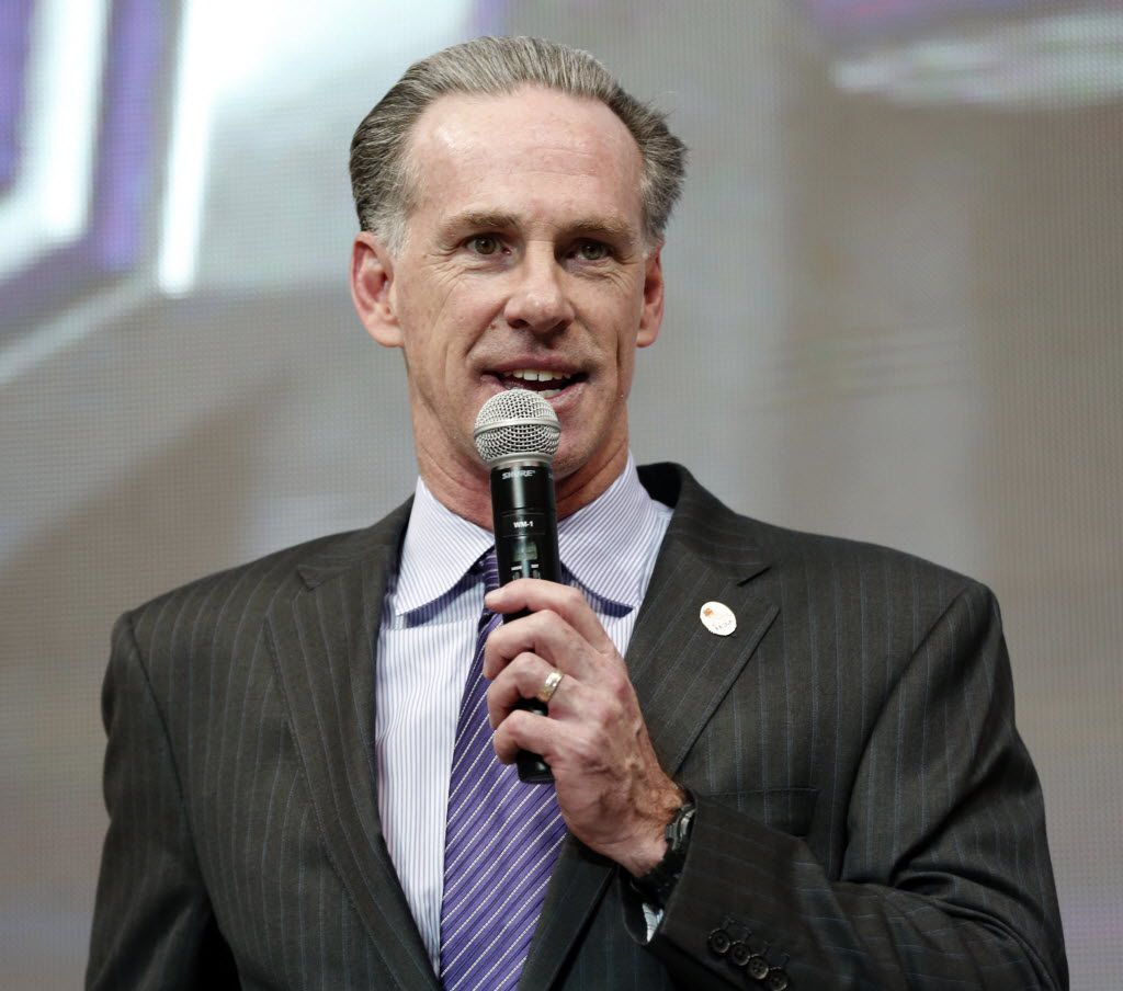 TCU's new men's basketball coach Jamie Dixon speaks after he was introduced during an NCAA college basketball news conference, Tuesday March 22, 2016, in Fort Worth, Texas. Dixon, who left Pittsburgh after leading the Panthers to 11 NCAA Tournaments in 13 seasons, six-year contract with his alma mater.   (Ron T. Ennis/Star-Telegram via AP)  MAGS OUT; (FORT WORTH WEEKLY, 360 WEST); INTERNET OUT; MANDATORY CREDIT