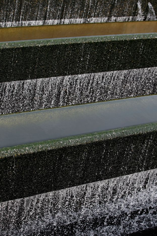 A effluent filter has 30 inches of anthracite removes small particles at one of the last stages of clensing water at the Central Wastewater Treatment Plant in Dallas on Feb. 16, 2018.  (Nathan Hunsinger/The Dallas Morning News)