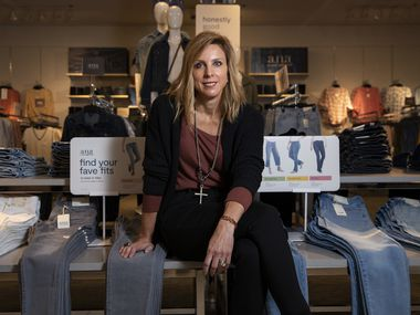 Chief merchant Michelle Wlazlo at the J.C. Penney in Stonebriar Centre in Frisco. The a.n.a. (a new approach) brand is relaunching to provide a wide range of denim styles for shoppers.