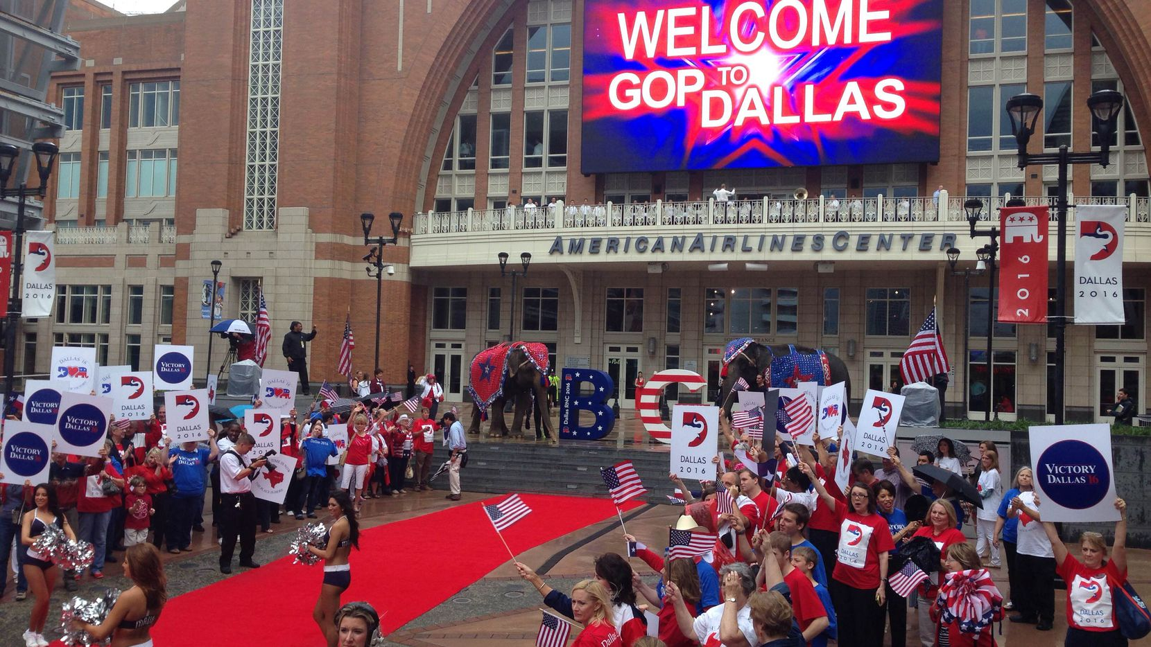 Dallas welcomed the Republican National Convention host committee at American Airlines Center on June 12, 2014.