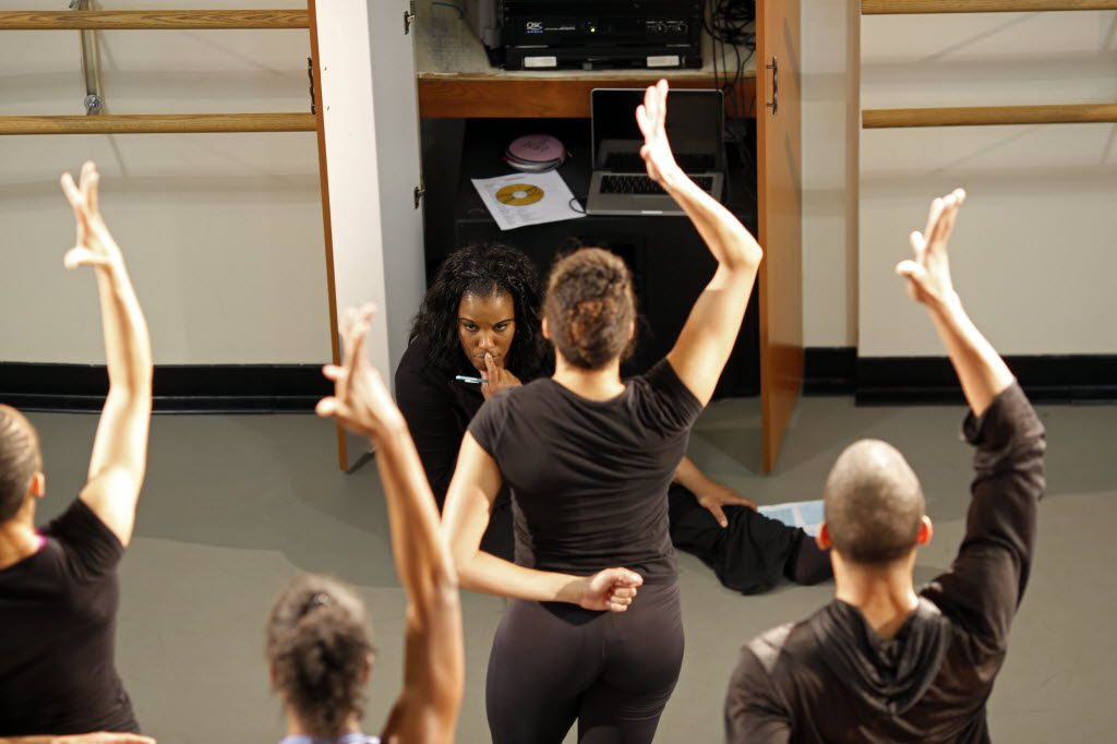 Bridget L. Moore choreographs a dance rehearsal  at the Dallas Black Dance Theatre in 2013.