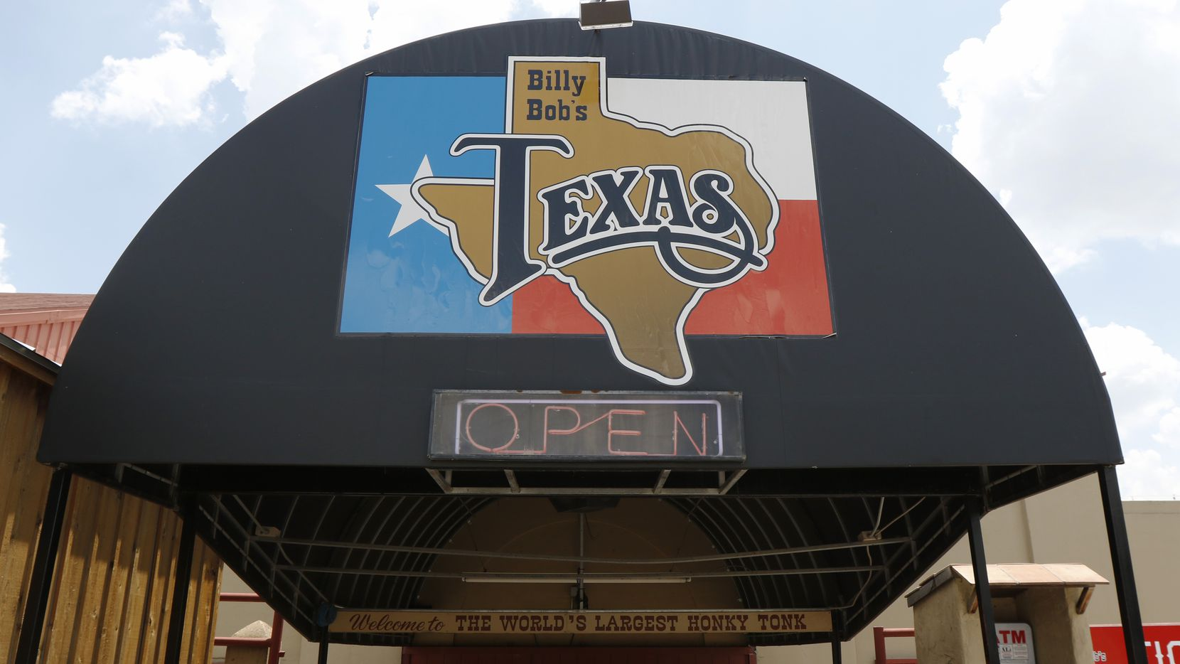 Signage outside Billy Bob's Texas is pictured on Monday, July 17, 2017.